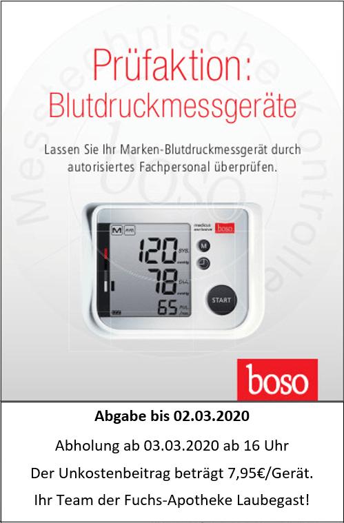 Blutdruckmessgeräte Prüfaktion